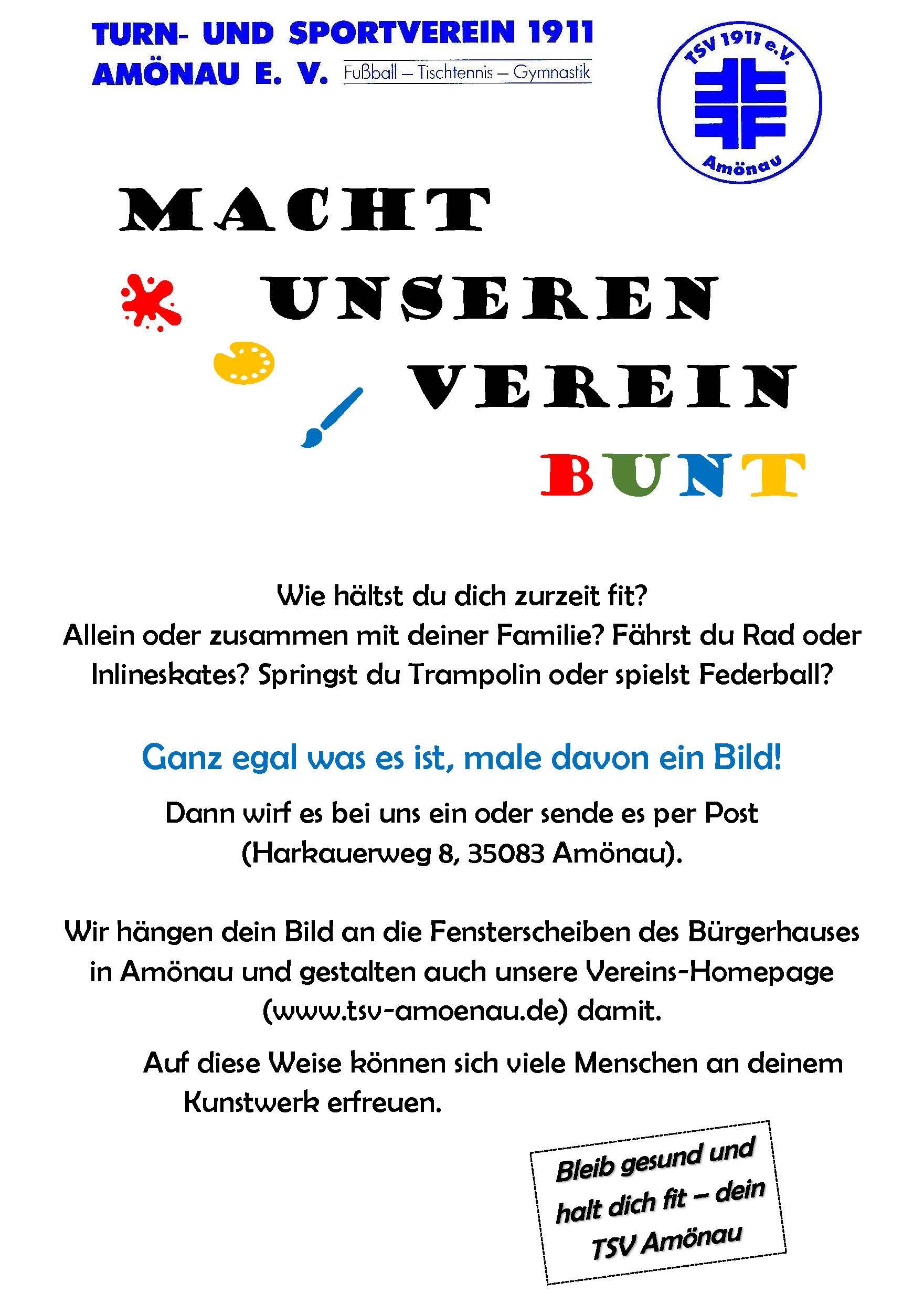 Macht unseren Verein BUNT!!!